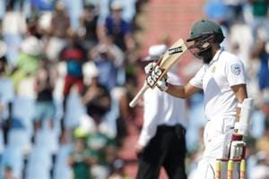 Hashim Amla needed 99 ballls to reach his fifty in the second cricket Test between South Africa and India at Centurion.