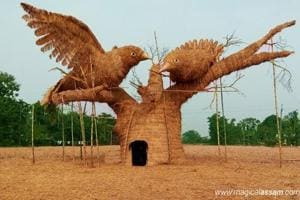 These bamboo structures made in Assam to celebrate Bihu explore...