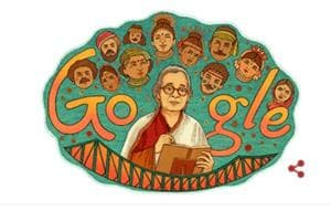 Google Doodle pays tribute to writer Mahasweta Devi on her 92nd birth...