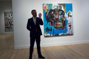 Art lovers, a record-breaking Basquiat painting will be exhibited in...