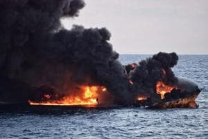 Iranian tanker sinks engulfed in flames, official says no hope of...