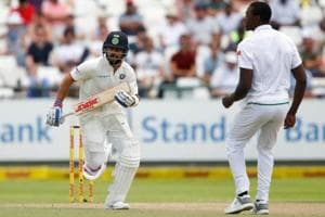 Virat Kohli's half-century steadied the Indian cricket team's ship after the fall of quick wickets on Day 2 of the second Test at Centurion.