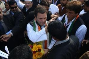 Congress president Rahul Gandhi visits Hanuman temple on way to Amethi...