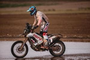 Steady CS Santosh overcomes marathon stage in Dakar Rally