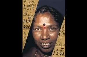 Tulsabai Sankhwad is the first woman sarpanch from the Masan Jogi community, the keepers of the funereal rites.