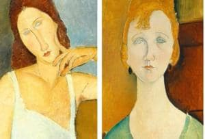 A few of the popular portraits by Italian artist Amedeo Modigliani, who worked mainly in France, and painted elongated necks and faces.