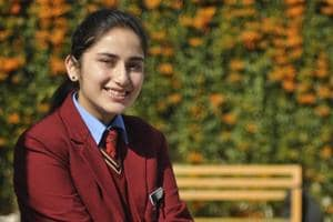 Aishvarya Thakur, a student of humanities, at DAV Model School, Sector 15, Chandigarh.