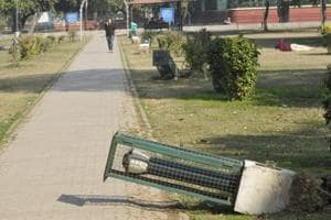 Vandalism in Chandigarh park: 10 lamp posts uprooted; third such...