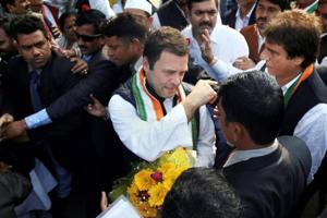 On his first UP tour as Cong chief, Rahul Gandhi accuses BJP of not...