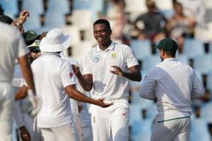 Debutant Lungi Ngidi elated after taking maiden Test scalp against...