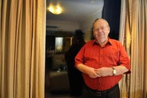 Author Ruskin Bond was in the city to launch his new book, Till The Clouds Roll By.