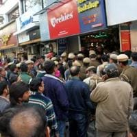 Officials of South Delhi Municipal Corporation sealed the basements of 35 establishments in Defence Colony, even as shopkeepers claimed they had the revised building plans with them.