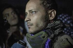 Venezuelan police officer Oscar Perez participating in an anti-government protest in Caracas on July 13, 2017.