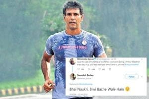 Milind Soman has set himself another tough fitness resolution this year: To run a seven-hour marathon every day. (HT/ file photo)