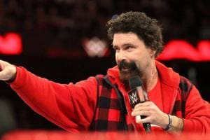 Mick Foley during his stint as general manager of WWE's flagship show Raw.