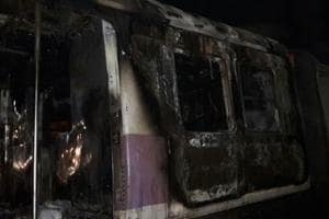 The empty coach caught fire around 1.45 am on Wednesdat near Thane station.
