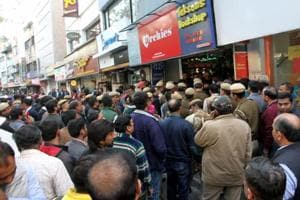 South Delhi Municipal Corporation sealed the basements of 35 establishments in Defence Colony on Tuesday even as shop owners claimed they had the revised building plans.