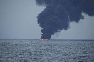 Iranian oil tanker wreck produces 2 slicks in East China Sea: China