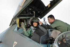 Defence minister Nirmala Sitharaman undertook a sortie in Indian Air...