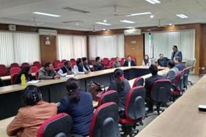 A brainstorming session of AKTU officials, placement heads of affiliated colleges and human resource heads of various companies was held at the university's Noida campus on Wednesday.