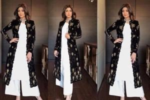 Shilpa Shetty just made a traditional velvet jacket look super chic....