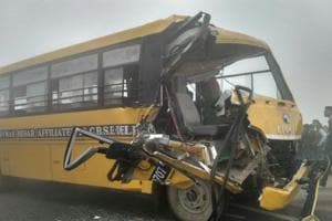 More than 20 children injured after school bus collides with truck in...
