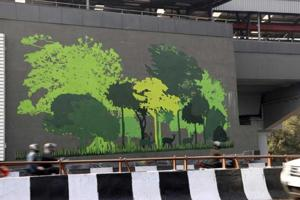 Delhi Metro engages artists, schoolkids to give Moti Bagh station a...