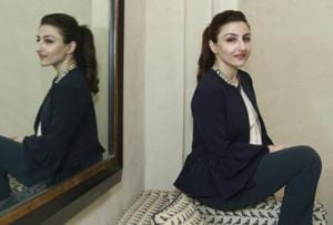 Bollywood actor Soha Ali Khan in Delhi during the launch of her book, The Perils of Being Moderately Famous.