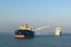 Crew member succumbs to injury in oil tanker fire off Gujarat's Kandla...