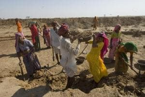 Drought-hit Rajasthan villages to get 150 days of work under job...