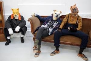Paris men's fashion week: Models dressed up as dogs, pigs to support...