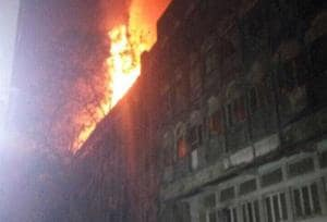 Huge blaze at Navrang studio building in Mumbai's Todi Mills compound;...