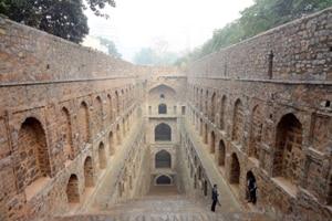 Agrasen ki Baoli in Delhi is a relatively spotless stepwell.