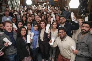 Twinkle Khanna throws light on real life PadMan at her Oxford talk,...
