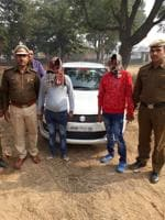 The second accused (in red shirt) was arrested on Friday morning and the Maruti Swift used in the crime was also recovered from him.