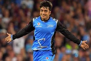 Rashid Khan, Afghanistan's 18-year-old wrist spinner, has been named...