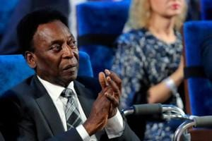 Pele, Brazil football great, collapses with exhaustion