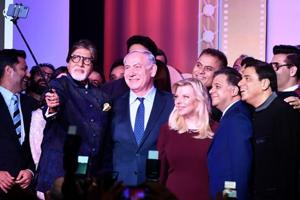 Amitabh Bachchan takes 'Oscar-style selfie' with Netanyahu, other...