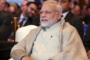Prime Minister Narendra Modi at the Raisina Dialogue in New Delhi on Tuesday.