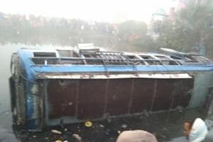 Accident due to fog: 9 dead as bus falls into ditch in West Bengal