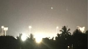 A photo taken by a resident in November 2017 shows floodlights at Wilson Gymkhana at 12.05am.