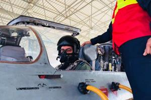 IAF chief Dhanoa flies in MiG-21 aircraft in Rajasthan