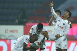 Seiminlen Doungel scored the first ever hat-trick for NorthEast United...