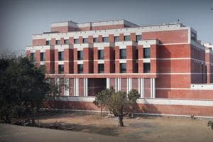 Newly constructed BJP Headquarters Building at Deen Dayal Updhya Marg in New Delhi.