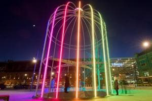 This nighttime art exhibition illuminates London's public spaces,...