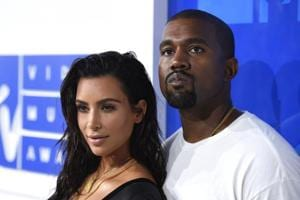 In this Aug. 28, 2016 file photo, Kim Kardashian West, left, and Kanye West arrive at the MTV Video Music Awards in New York.