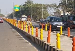 After UPHaj house colour row; parks, dividers painted saffron in...