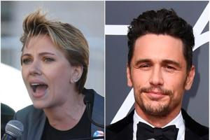Scarlett Johansson tells James Franco she wants her Time's Up pin back...