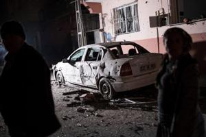 Turkey says border town hit by rockets from Syria; 1 wounded
