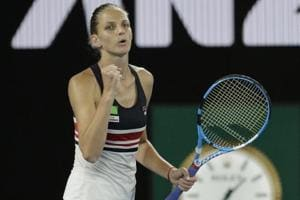 Karolina Pliskova battles past Barbora Strycova, to play Halep in...